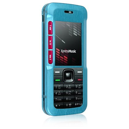 Hard Aluminum Shield Protector Case for Nokia 5310 Cell Phone - Blue
