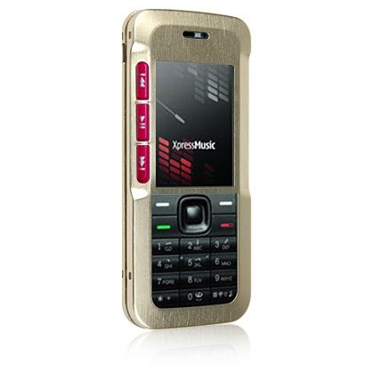 Hard Aluminum Shield Protector Case for Nokia 5310 Cell Phone - Gold
