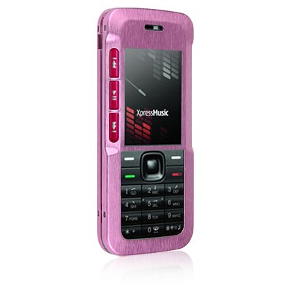 Hard Aluminum Shield Protector Case for Nokia 5310 Cell Phone - Hot Pink