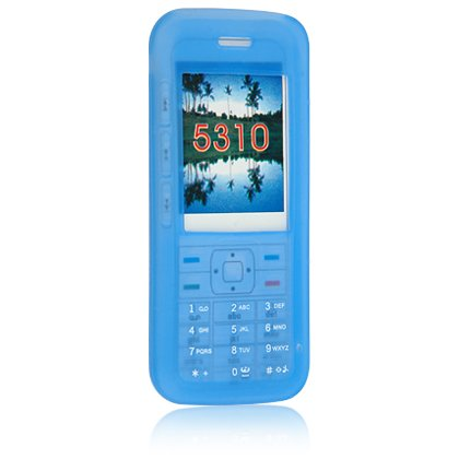 Silicone Skin Cover Case for Nokia 5310 Cell Phone - Blue