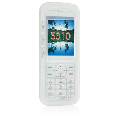 Silicone Skin Cover Case for Nokia 5310 Cell Phone - White