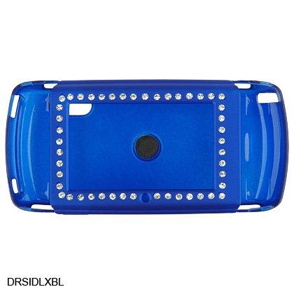 BLUE Diamond Bling Rubber Case for Sidekick LX