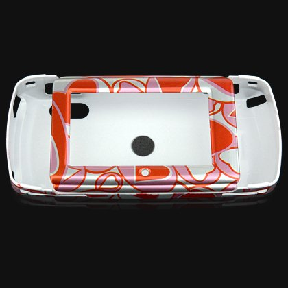 Crystal Shield Protector Case for Sidekick LX Cell Phone - Red Hearts