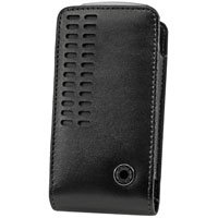 Black Bergamo Case with Removable Spring Belt Clip for LG VX10000 Voyager