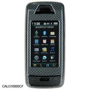 Black Carbon Fiber Crystal Case for LG VX10000 Voyager