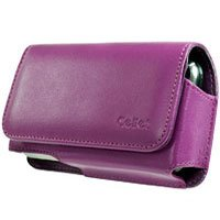 Blackberry 8300 Purple Noble Case w/ Removable Spring Clip & Swivel Clip