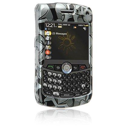 Hard Plastic Shield Protector Case for RIM BlackBerry 8300 Curve - BLACK SKULL