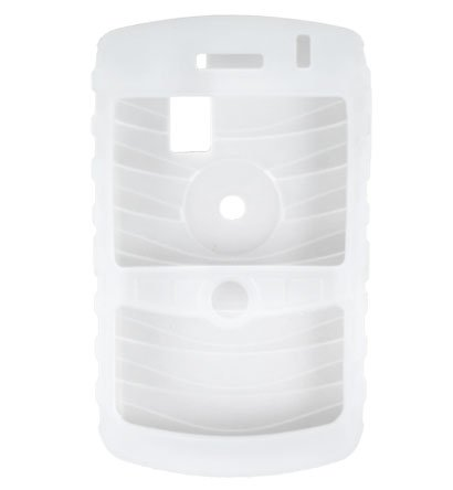 Premium Ribbed Silicone Skin Cover for BlackBerry Curve 8300 - Clear