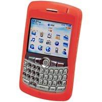 RED RIM Blackberry 8300 Curve Silicone Case