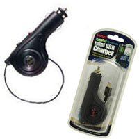 Retractable Car Charger for BlackBerry 8300 Curve - Black
