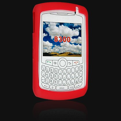 Soft Rubber Silicone Skin Cover Case for RIM BlackBerry 8300 / 8320 / 8330 Curve - RED