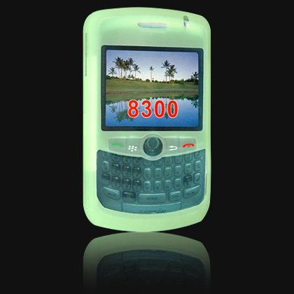 Soft Silicone Skin Cover Case for BlackBerry Curve 8300 - Green