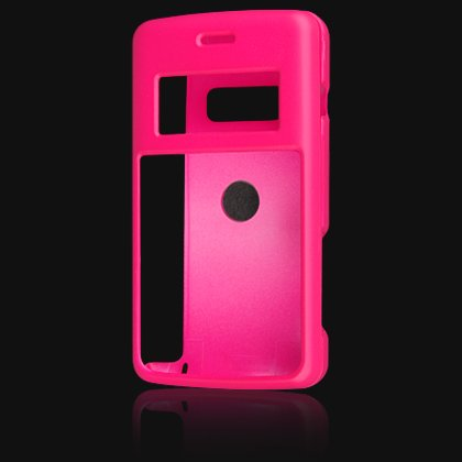 Crystal Hard Shell Shield Protector Case with Belt Clip for LG enV2 VX9100 - Hot Pink