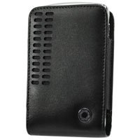 Black Bergamo Case with Removable Spring Belt Clip for Samsung BlackJack II i617
