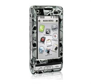 Hard Plastic Shield Protector Faceplate Case for LG DARE VX-9700 - BLACK SKULL
