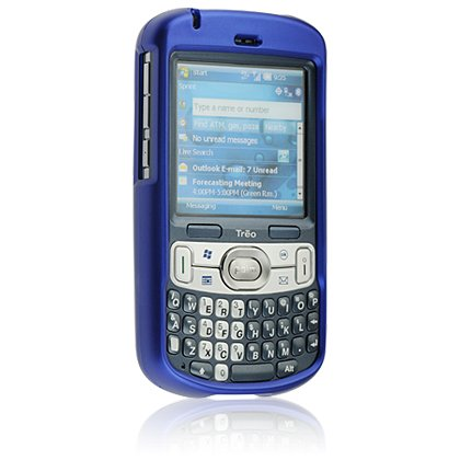 Hard Plastic Shield Protector Faceplate Case w/ Belt Clip for Palm Treo 800w - BLUE