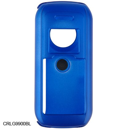 Crystal Hard Shell Shield Protector Case with Belt Clip for LG enV VX9900 - Blue