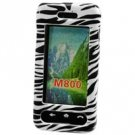 Hard Plastic Shield Protector ProGuard Case for Samsung Instinct M800 - Zebra Stripes