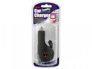 Retractable Plug-In Car Charger for Palm Centro