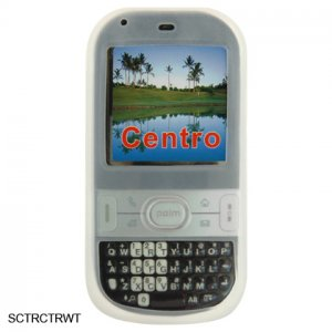 White Silicone Skin Cover Case for Palm Centro