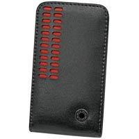 Black & Red Bergamo Case with Removable Spring Belt Clip for Samsung BlackJack II i617