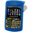 RIM Blackberry Curve Blue Jelly Case