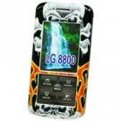 LG Venus VX-8800 with Skull & Fire Proguard Shield Protector Case