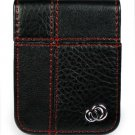 BLACK Apple iPod Nano 3rd Generation Redline Leather Case