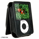 BLACK Leather Pouch Case for Apple iPod Nano 3