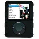 BLACK Silicone Skin Cover w/ Anti-Slip Grip for Apple iPod Nano 3rd Gen