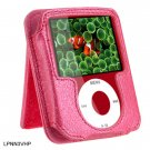HOT PINK Leather Pouch Case for Apple iPod Nano 3