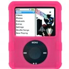 HOT PINK Silicone Skin Cover w/ Anti-Slip Grip for Apple iPod Nano 3rd Gen