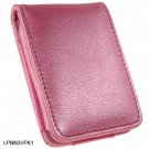 PINK Flip Cover Leather Pouch for Apple iPod Nano 3