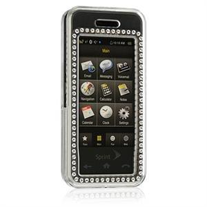 Hard Plastic Diamond Design Case for Samsung Instinct M800 - Clear