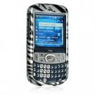 Hard Plastic Shield Protector Faceplate Case w/ Belt Clip for Palm Treo 800w - Silver Zebra