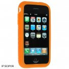 Full View Premium Silicone Skin Cover for Apple iPhone - Orange