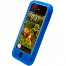 BLUE Apple iPhone Silicone Skin Cover