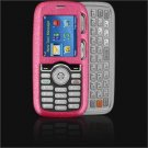 Crystal Leather Shield Protector Case for LG Rumor LX260 - Hot Pink