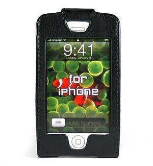 BLACK Apple iPhone Forza Leather Case