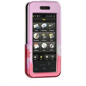 Hard Plastic Shield Protector Faceplate Case for Samsung Instinct M800 - Pink Flowers