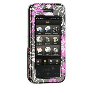Hard Plastic Shield Protector Faceplate Case for Samsung Instinct M800 - Pink Butterfly