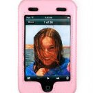 PINK Apple iTouch Leather Snap-On Case