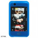 Silicone Skin Sleeve Cover Case for Apple iTouch - Blue