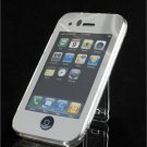 Clear Crystal Case w/ Belt Clip & Kickstand for Apple iPhone 3G - SILVER FINISH