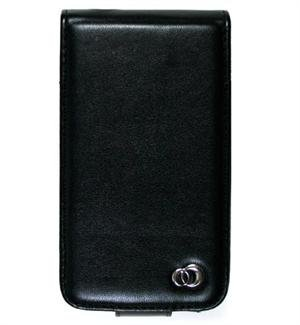 VERTICAL Leather Carrying Case Cover for Apple iPhone - BLACK