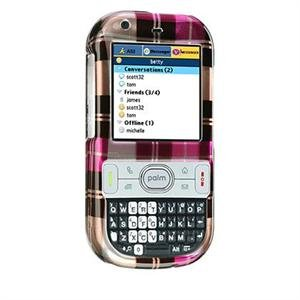 Crystal Shield Protector Case for Palm Centro - Hot Pink Check