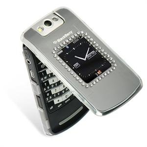 Hard Plastic Bling Design Cover Case for BlackBerry Pearl Flip 8220 - Clear