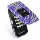 Hard Plastic Design Cover Case for BlackBerry Pearl Flip 8220 - Purple Zebra