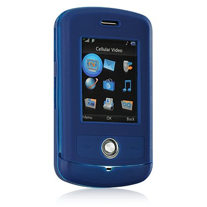 Silicone Skin Cover Case for LG Shine CU720 - Blue