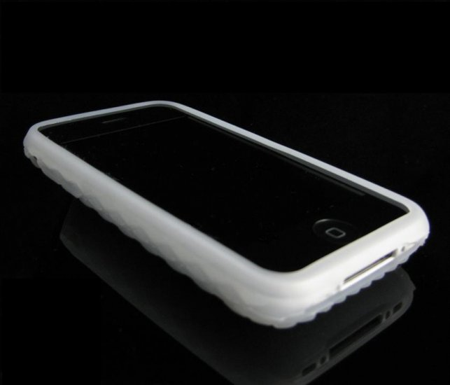 CLEAR Premium High-Grade Textured Soft Rubber Silicone Skin Cover Case for Apple iPhone 3G